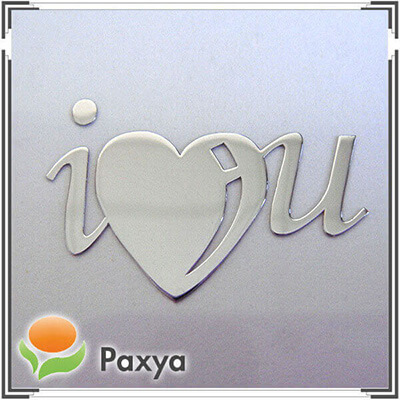 I Love you – thin metal sticker for Valentine's Day