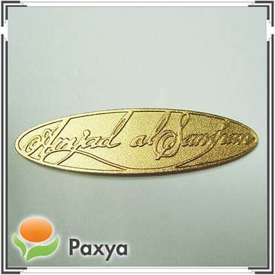 Amjad – metal nameplate for company logo