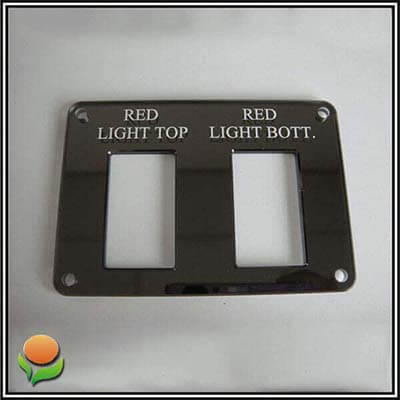 Red light top – Acrylic sign for yacht